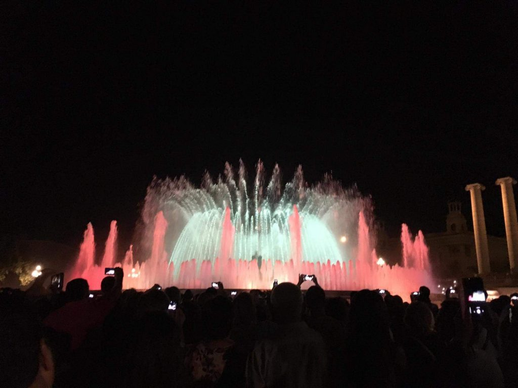 Water show at the Magic Fountain in Barcelona