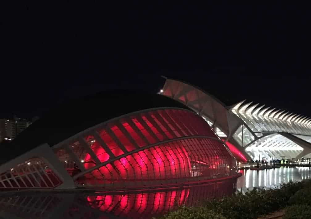 City of Arts and Sciences at night