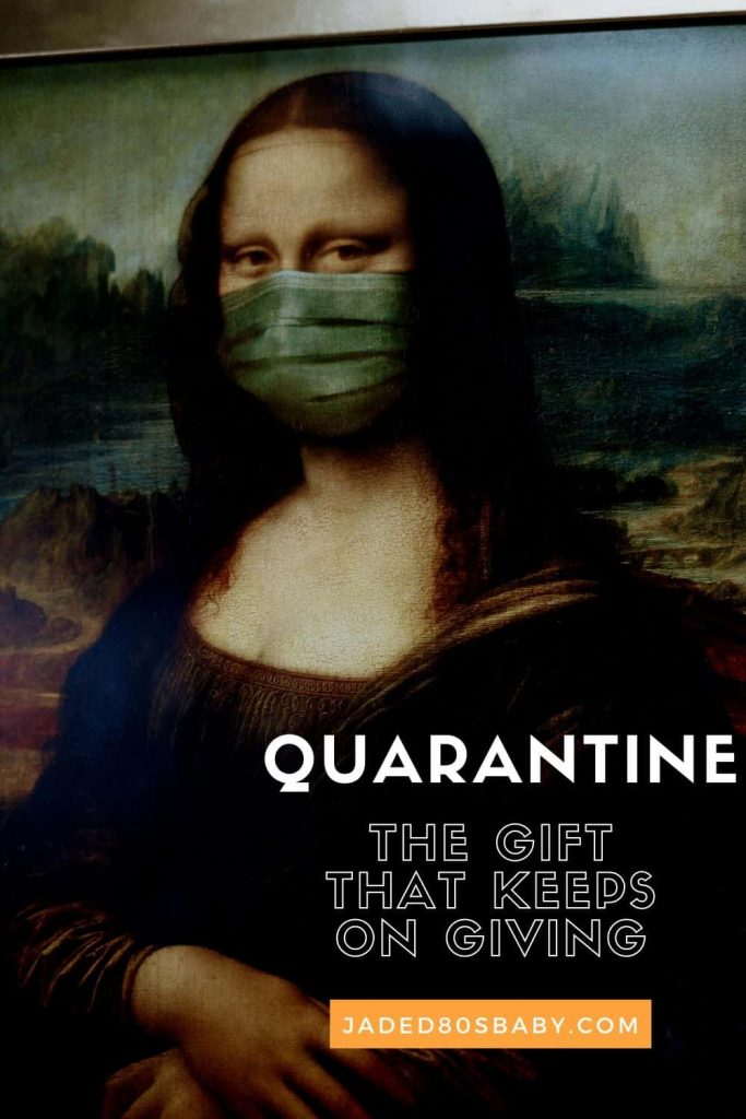The Mona Lisa wearing a quarantine mask