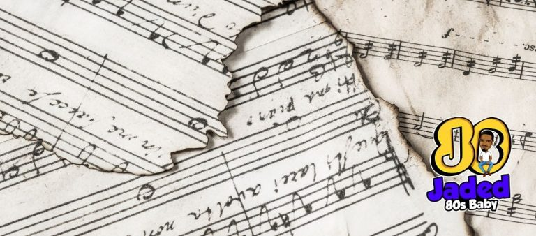 Burned sheet music