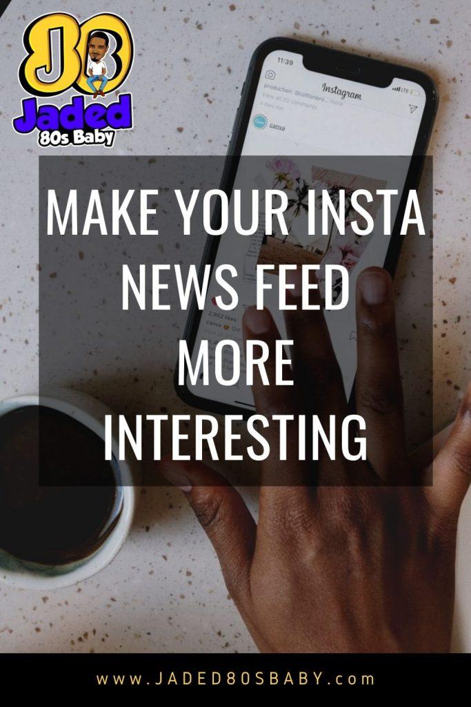 Insta news feed pin