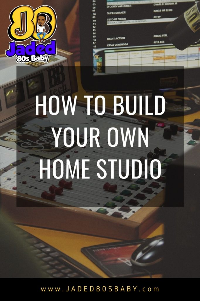 How to build a home studio Pinterest Pin