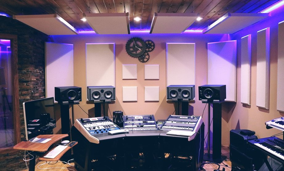 A picture of a home music studio